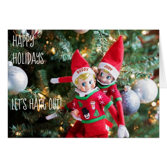 christmas elf holiday sweater customisable card 3