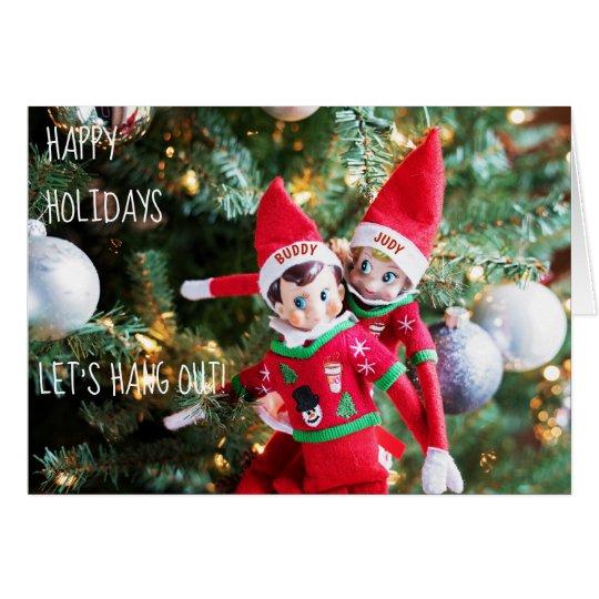 christmas elf holiday sweater customisable card 4