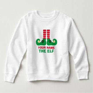 Christmas Elf Name Personalize Sweatshirt
