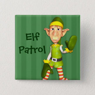Christmas Elf Patrol Button