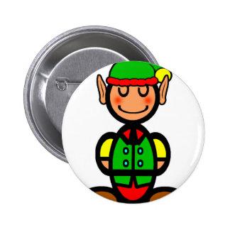 Christmas Elf (plain) 6 Cm Round Badge