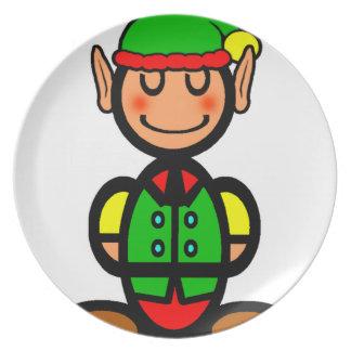Christmas Elf (plain) Plates