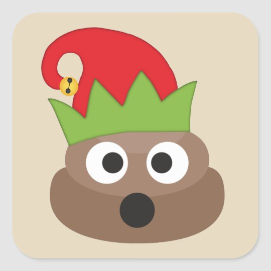Christmas Elf Poop Emoji Stickers