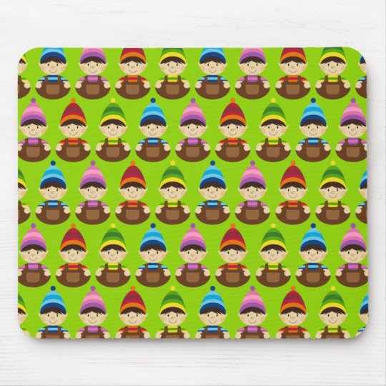 Christmas Elf Repeat Mouse Pad