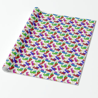 Christmas Elf shoes pattern wrapping paper