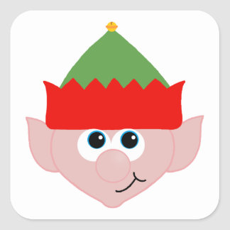 Christmas Elf Square Sticker