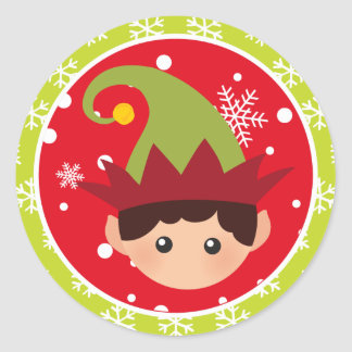 Christmas - Elf Stickers (Round)
