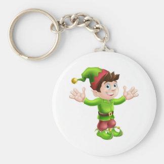 Christmas elf waving keychains