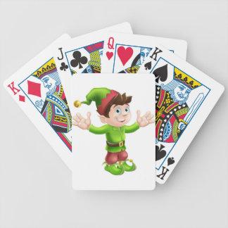 Christmas elf waving card deck