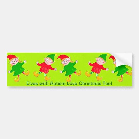 Christmas elves bumper sticker