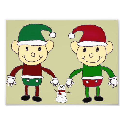 Christmas Elves Art Photo
