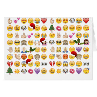 christmas emojis card