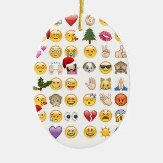 christmas emojis ceramic oval decoration