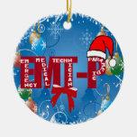 CHRISTMAS EMT-P SANTA ORNAMENT EMERGENCY PARAMEDIC