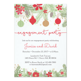 Christmas Engagement Party Invitations