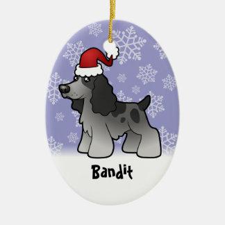 Christmas English Cocker Spaniel (add pets name) Christmas Ornament
