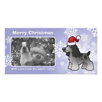 Christmas English Cocker Spaniel Customized Photo Card