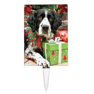 Christmas - English Springer Spaniel - Barney Cake Picks