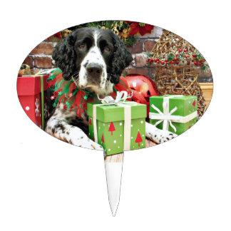 Christmas - English Springer Spaniel - Barney Cake Topper