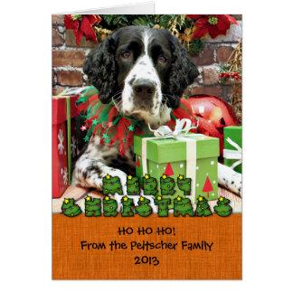 Christmas - English Springer Spaniel - Barney Note Card