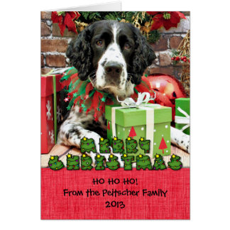 Christmas - English Springer Spaniel - Barney Greeting Cards