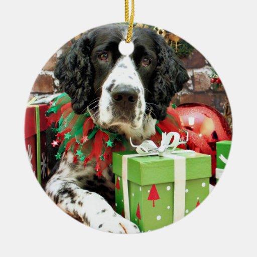 Christmas - English Springer Spaniel - Barney Christmas Ornaments