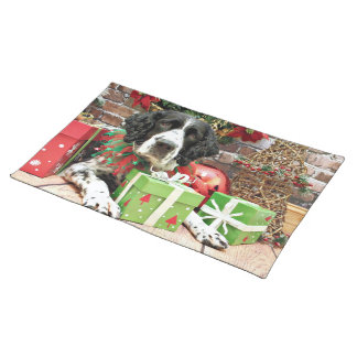 Christmas - English Springer Spaniel - Barney Placemats