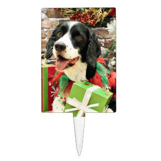 Christmas - English Springer Spaniel - Betsy Rectangle Cake Pick