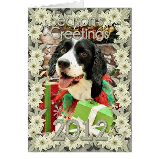 Christmas - English Springer Spaniel - Betsy Greeting Card