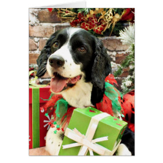 Christmas - English Springer Spaniel - Betsy Stationery Note Card