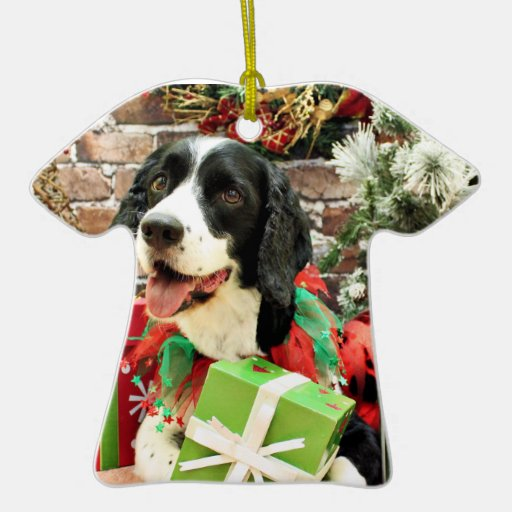 Christmas - English Springer Spaniel - Betsy Christmas Ornaments