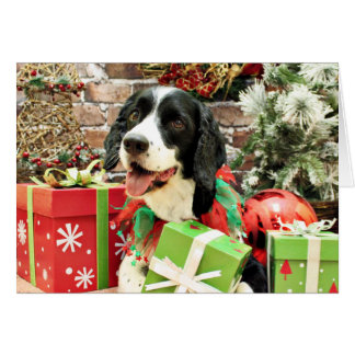 Christmas - English Springer Spaniel - Betsy Note Card