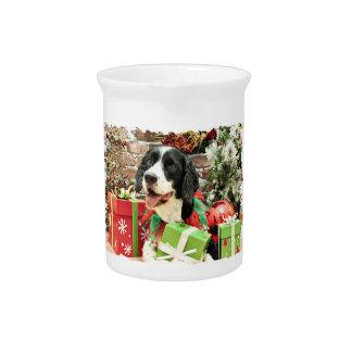 Christmas - English Springer Spaniel - Betsy Drink Pitcher