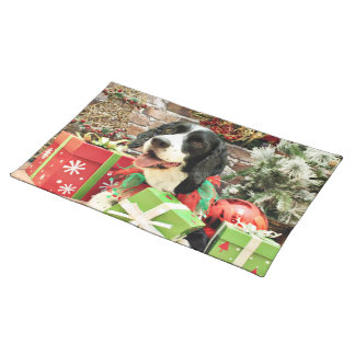 Christmas - English Springer Spaniel - Betsy Placemat