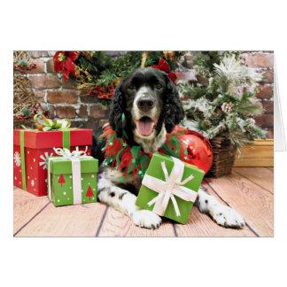 Christmas - English Springer Spaniel - Bosley Greeting Card