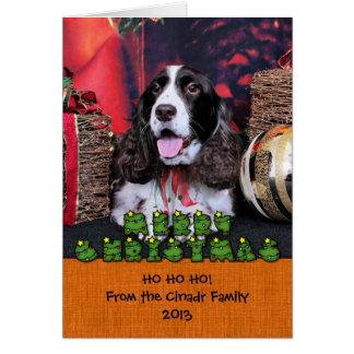 Christmas - English Springer Spaniel - Chloe Stationery Note Card