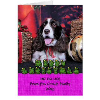 Christmas - English Springer Spaniel - Chloe Greeting Cards