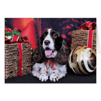 Christmas - English Springer Spaniel - Chloe Note Card