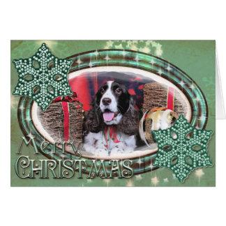 Christmas - English Springer Spaniel - Chloe Card