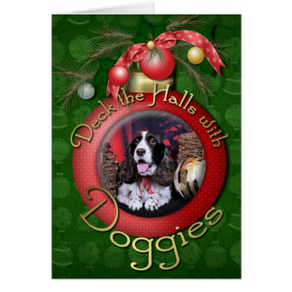 Christmas - English Springer Spaniel - Chloe Greeting Card