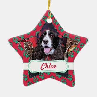 Christmas - English Springer Spaniel - Chloe Christmas Ornament