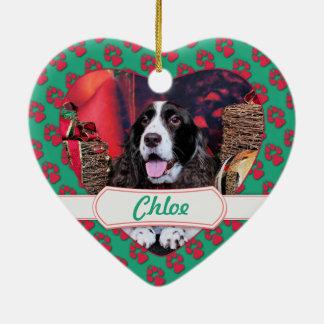 Christmas - English Springer Spaniel - Chloe Christmas Tree Ornaments