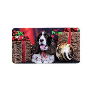 Christmas - English Springer Spaniel - Chloe Address Label