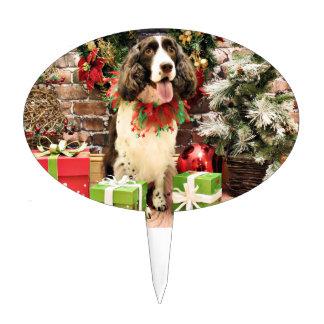 Christmas - English Springer Spaniel - Cloe Cake Pick