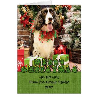 Christmas - English Springer Spaniel - Cloe Greeting Card