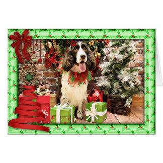 Christmas - English Springer Spaniel - Cloe Cards