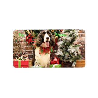 Christmas - English Springer Spaniel - Cloe Address Label