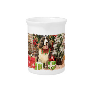 Christmas - English Springer Spaniel - Cloe Beverage Pitchers