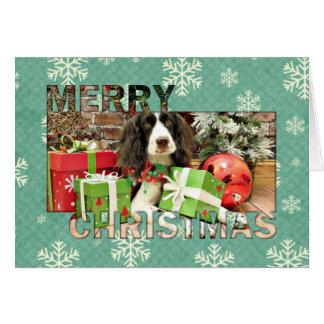 Christmas - English Springer Spaniel - Kinzie Card