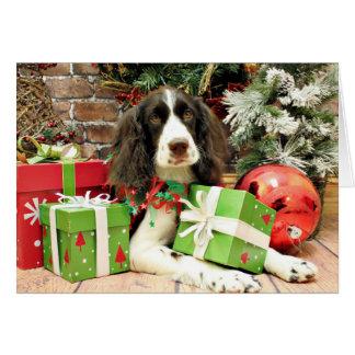 Christmas - English Springer Spaniel - Kinzie Note Card